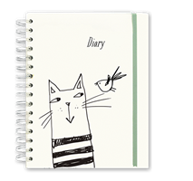 diary with cat on